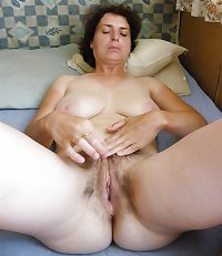 Mature wife with hairy pussy
